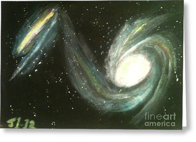 Colliding Galaxies Greeting Card by James Courtney