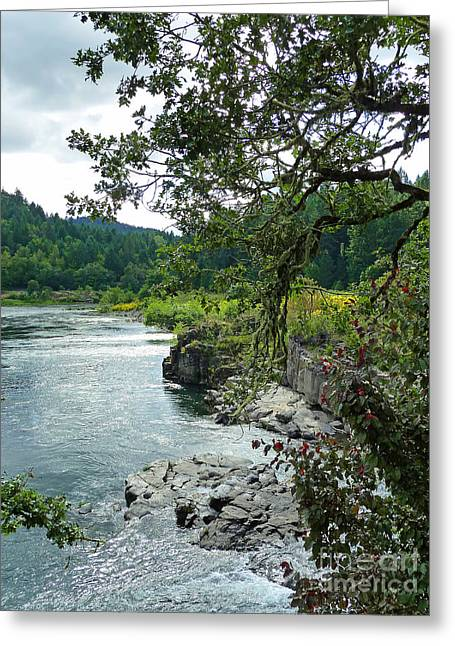 Colliding Rivers Greeting Card by Methune Hively