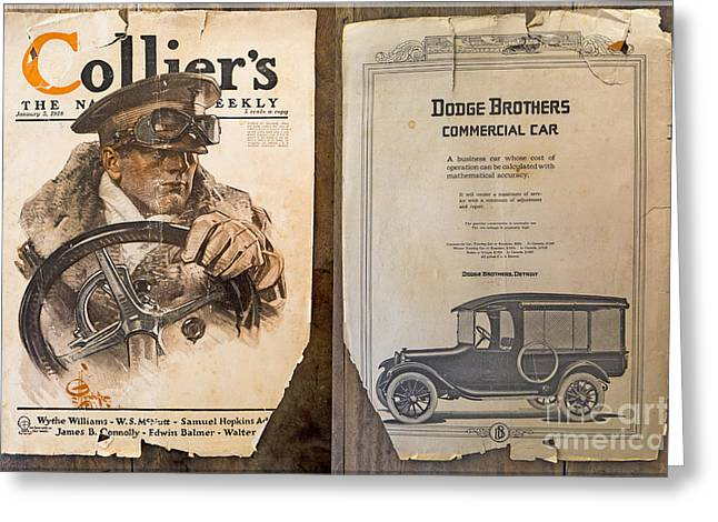 Colliers Cover Both Sides Jan 5 1918 Greeting Card by Roy Foos