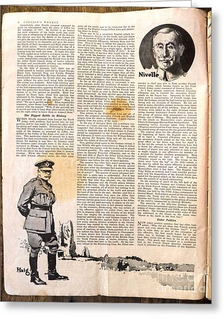 Colliers Jan 5 1918 Pg 6 Greeting Card by Roy Foos