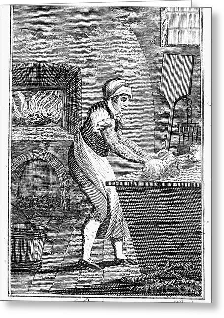 Colonial Baker, C1800 Greeting Card by Granger