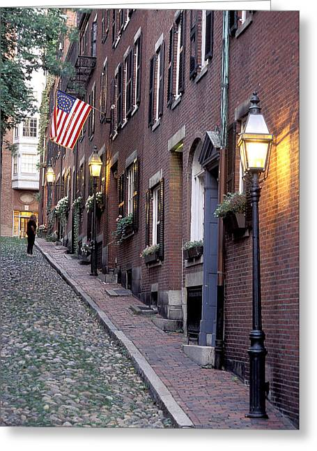 Colonial Era Town Houses And American Greeting Card by Richard Nowitz
