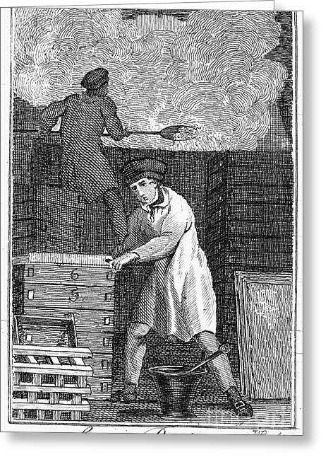 Colonial Soapmaker Greeting Card by Granger