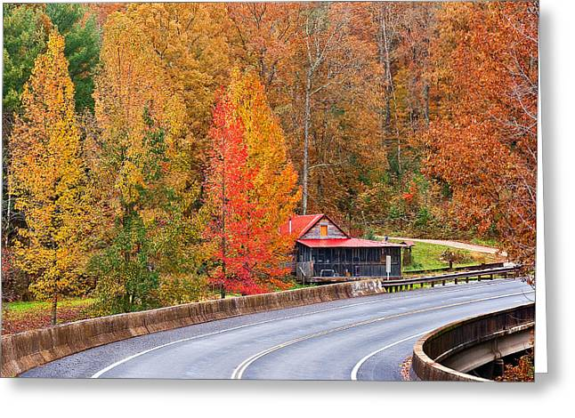 Color At New River Greeting Card by Charles Fletcher