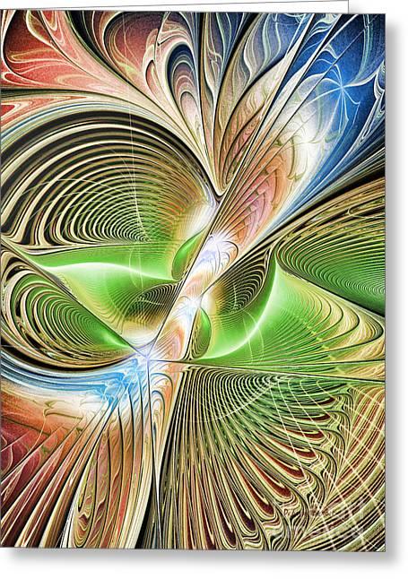 Color Etchings Of The Heart Greeting Card by Deborah Benoit