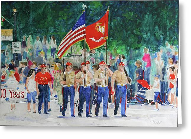 Color Guard Greeting Card by William Tockes