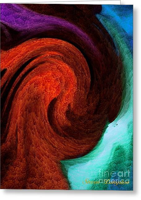 Greeting Card featuring the painting Color In Motion With A Kick by Steven Lebron Langston