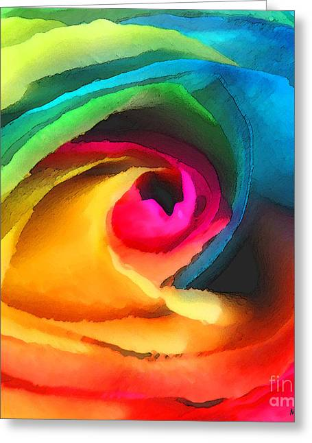 Color Launch Greeting Card by ME Kozdron