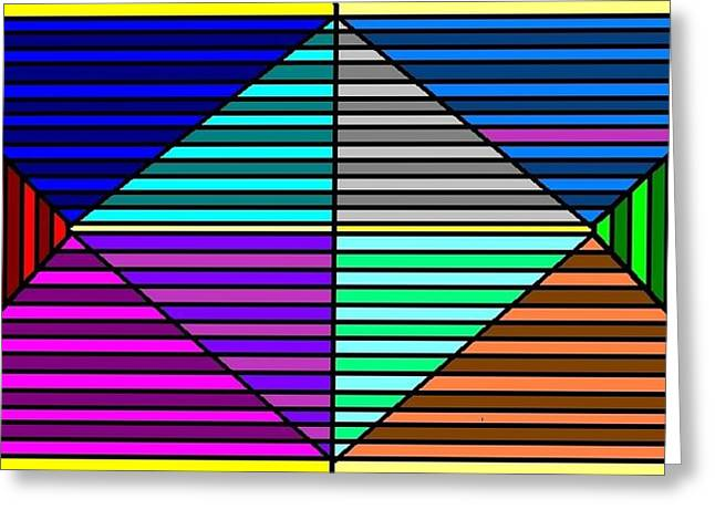 Color Lines Greeting Card by Rachael McIntosh