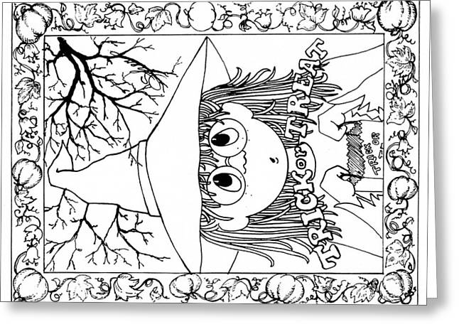 Color Me Card - Halloween Greeting Card