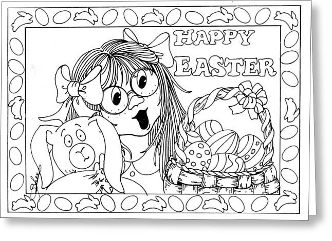 Color Me Card - Easter Greeting Card