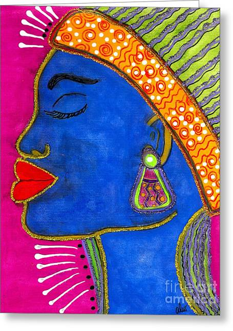 Color Me Vibrant Greeting Card by Angela L Walker