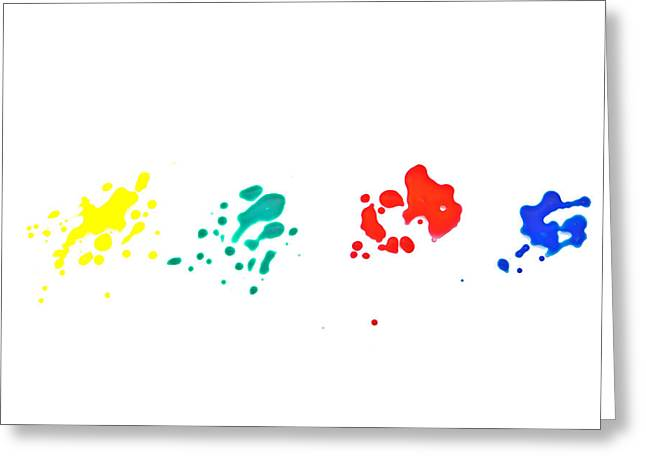 Color Splash Greeting Card by Joana Kruse