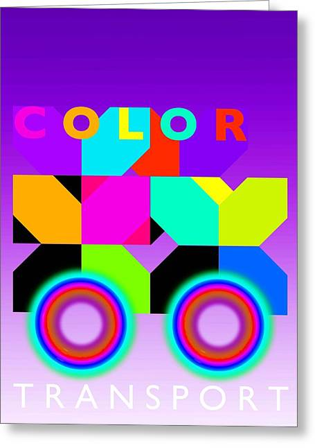 Color Wheels Greeting Card