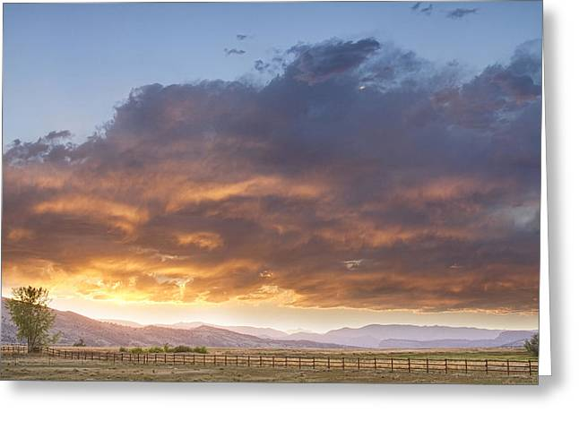Colorado Evening Light Greeting Card by James BO  Insogna