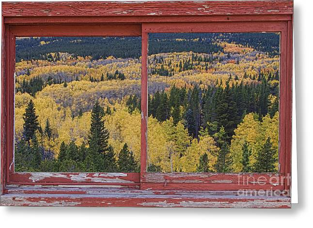 Colorado Red Rustic Picture Window Frame Photo Art Greeting Card by James BO  Insogna