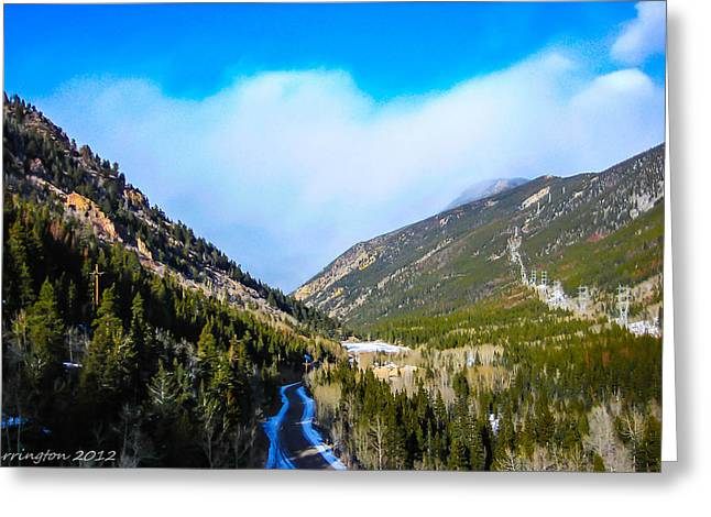 Greeting Card featuring the photograph Colorado Road by Shannon Harrington