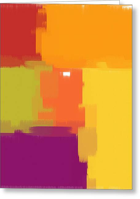 Colorblock Greeting Card by Heidi Smith