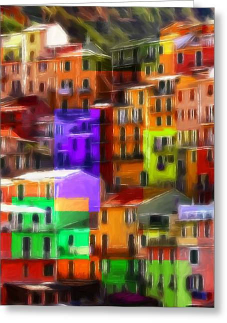 Colored Windows Greeting Card by Steve K