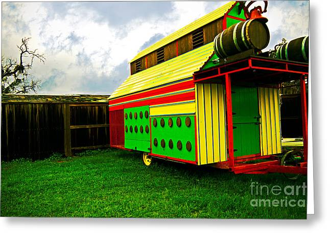 Colorful Barn Greeting Card by James Serikov