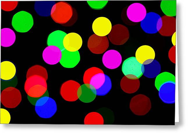 Colorful Bokeh Greeting Card by Paul Ge