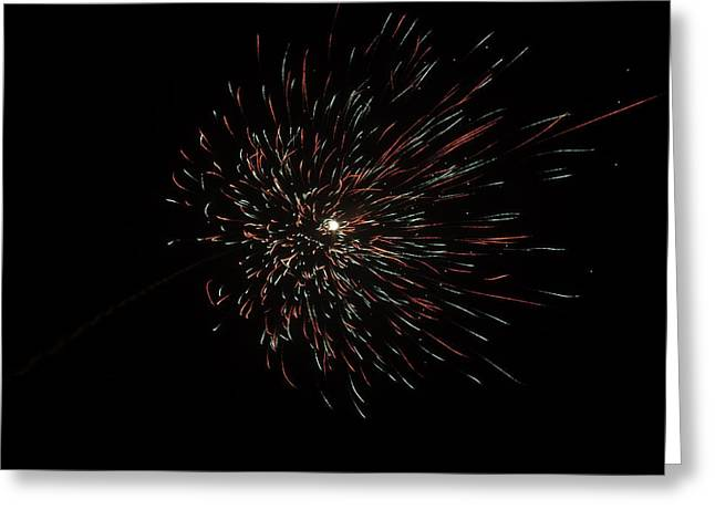 Colorful Burst Of Firecrackers High In The Sky Greeting Card by Ashish Agarwal