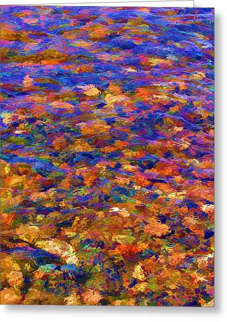 Greeting Card featuring the digital art Colorful Clear Creek by Brian Davis