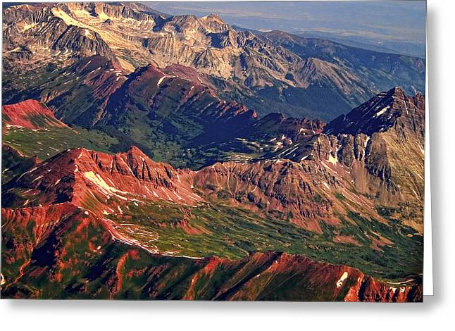 Colorful Colorado Rocky Mountains Planet Art Greeting Card by James BO  Insogna