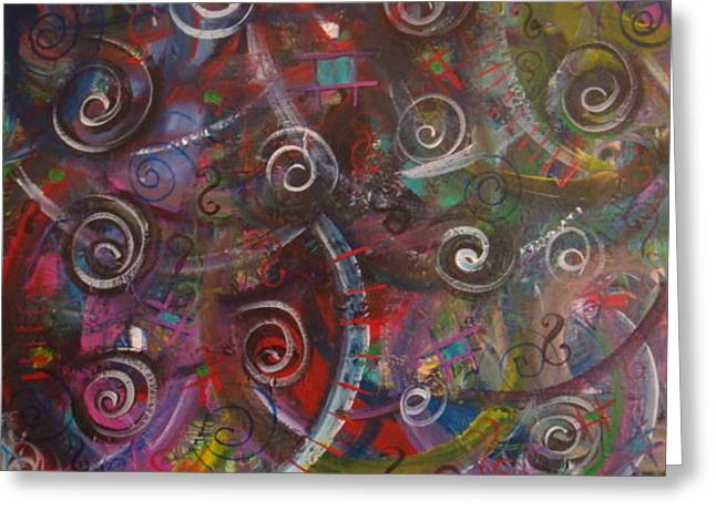 Colorful Confusion Greeting Card by Catherine Nichols