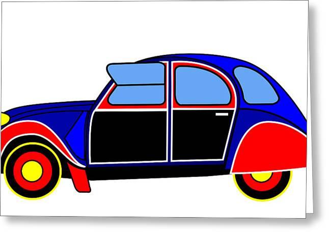 Colorful Darling - Virtual Car Greeting Card by Asbjorn Lonvig