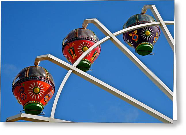 Colorful Ferris Wheel In Glenelg Greeting Card by Kirsten Giving