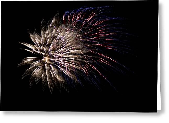 Colorful Fireworks Greeting Card by Marilyn Hunt