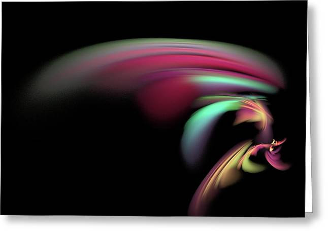 Greeting Card featuring the digital art Colorful Flash by Ester  Rogers