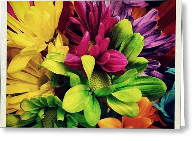 #colorful #flowers Greeting Card