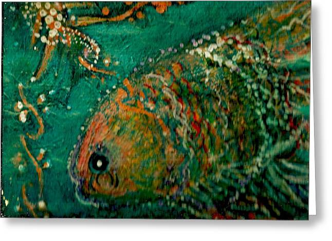 Colorful Gloriful Underwater Delight Greeting Card by Anne-Elizabeth Whiteway