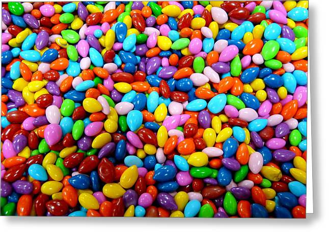 Colorful Jordan Almonds Greeting Card