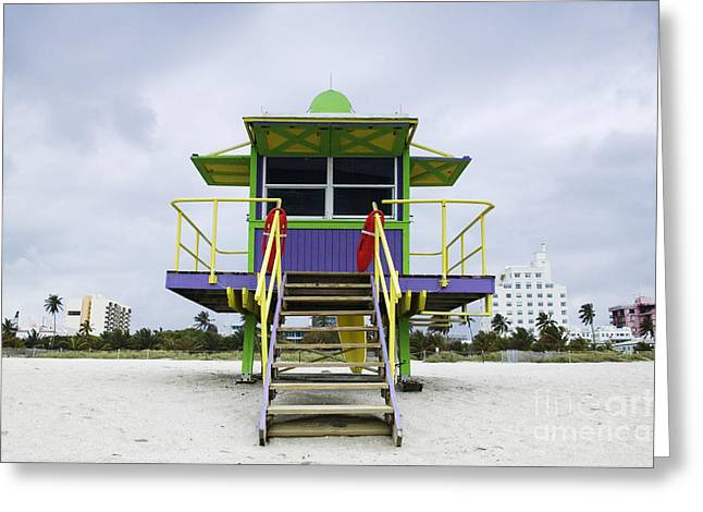 Colorful Lifeguard Station Greeting Card by Jeremy Woodhouse
