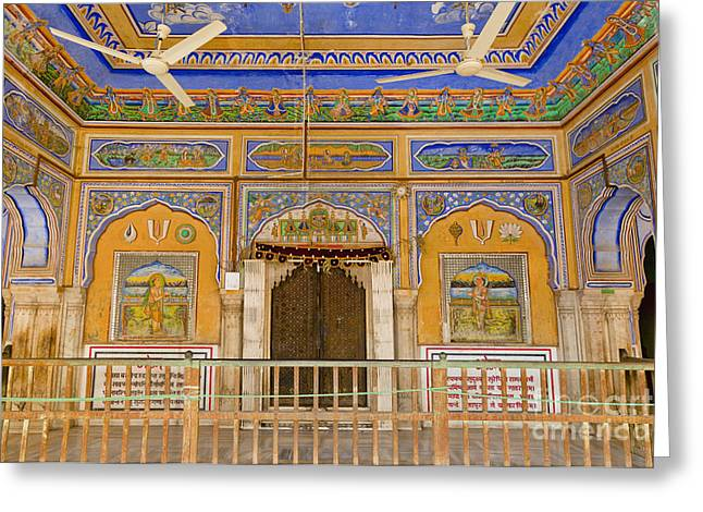 Colorful Palace Interior Greeting Card by Inti St. Clair