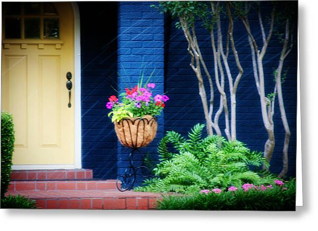 Colorful Porch Greeting Card by Toni Hopper