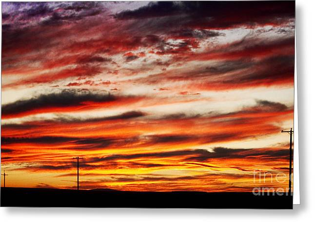 Colorful Rural Country Sunrise Greeting Card by James BO  Insogna
