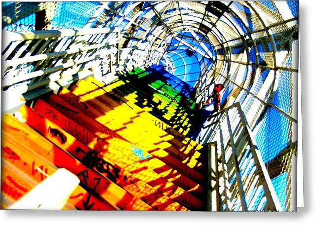 Colorful Steps Greeting Card by D Wash