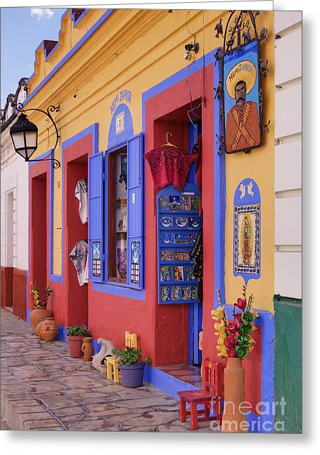 Colorful Storefront Greeting Card by Jeremy Woodhouse