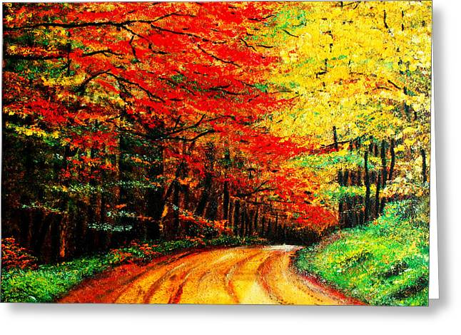Colorful Tree Leaves Greeting Card by Nelson