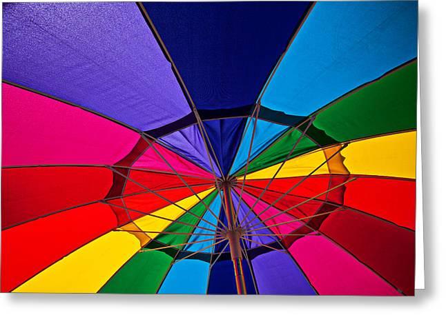 Colorful Umbrella Greeting Card