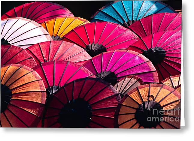 Greeting Card featuring the photograph Colorful Umbrella by Luciano Mortula