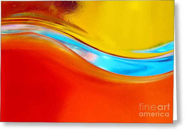Colorful Wave Greeting Card by Carlos Caetano