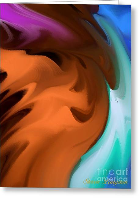 Greeting Card featuring the painting Colors In Motion by Steven Lebron Langston