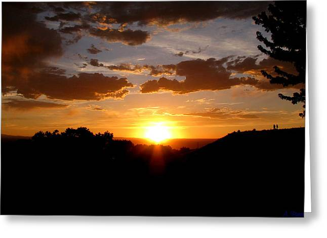 Colors Of A Setting Sun Greeting Card by Aaron Burrows