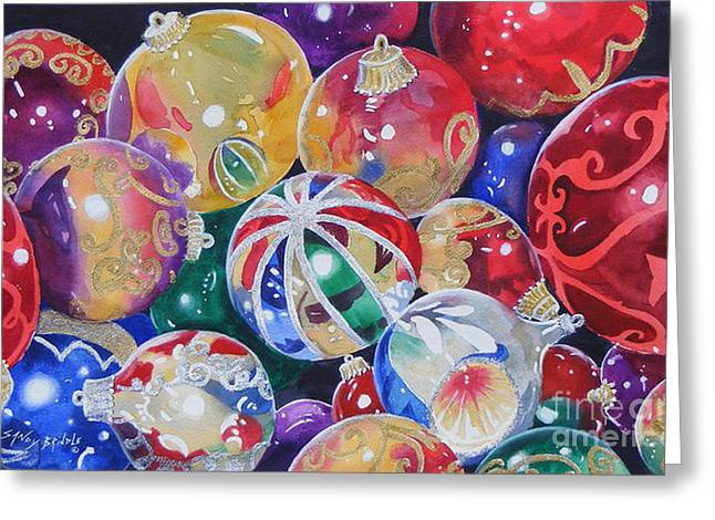 Colors Of Christmas ...sold  Greeting Card
