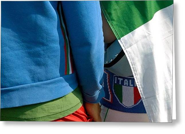 Colors Of Italy - Green White And Red Greeting Card